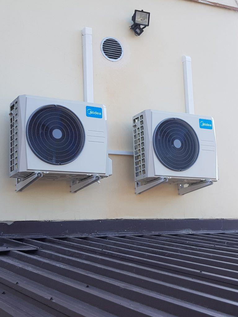 Montaż 2 klimatyzatorów na zewnątrz - klimatyzacja Nowy Sącz